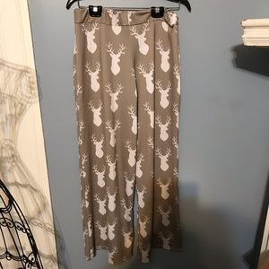 Lolly Wolly Doodle Palazzo Pants with deer heads